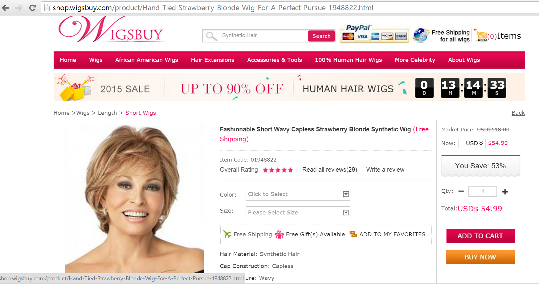 Don t be fooled Applause by Raquel Welch is a knockoff. WigsBuy stole the ac6e4031091a